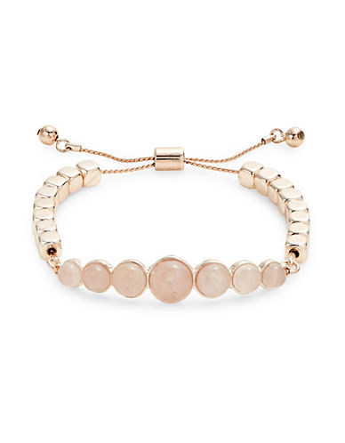 Design Lab Lord & Taylor Ball and Cube Slider Bracelet-PASTEL-One Size