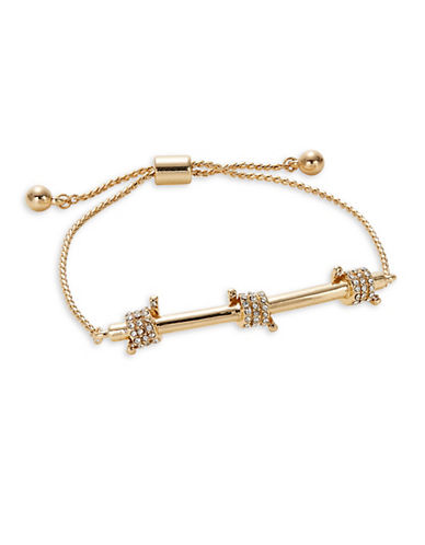 Design Lab Lord & Taylor Pave Bar Bracelet-GOLD-One Size