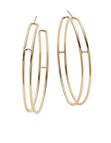 Design Lab Lord & Taylor Double Hoop Earrings-GOLD-One Size
