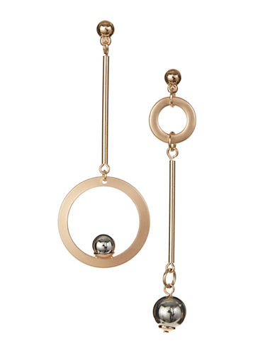 Design Lab Lord & Taylor Goldtone Disc Drop Ball Earrings-ASSORTED-One Size
