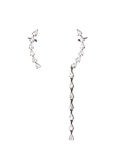 Design Lab Lord & Taylor Black Metal Tear Drop Ear Cuff Earrings-ASSORTED-One Size