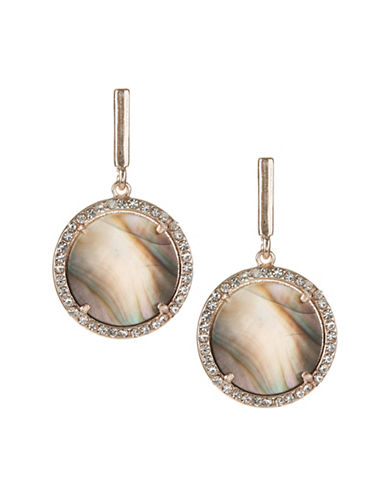 Design Lab Lord & Taylor Crystal Round Drop Earrings-ASSORTED-One Size
