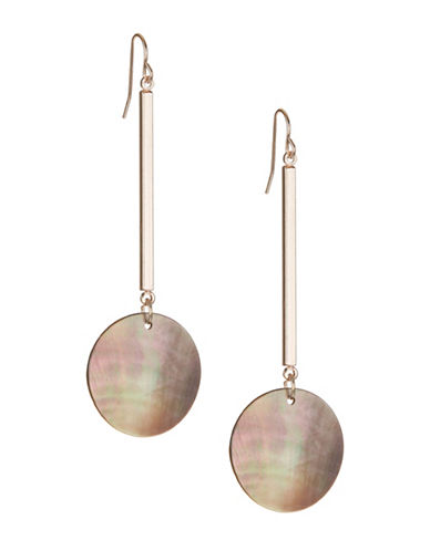 Design Lab Lord & Taylor Long Bar and Round Drop Earrings-ASSORTED-One Size