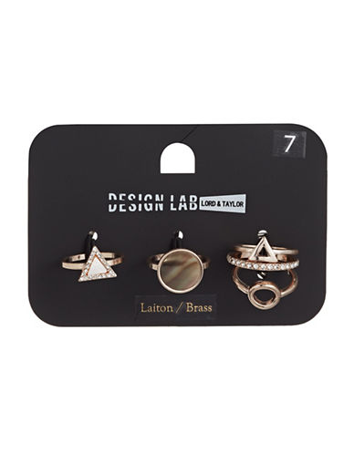 Design Lab Lord & Taylor Five-Pack Rose Goldtone Rings-ASSORTED-One Size