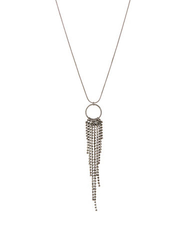 Expression O Ring Tassel Necklace-GREY-One Size