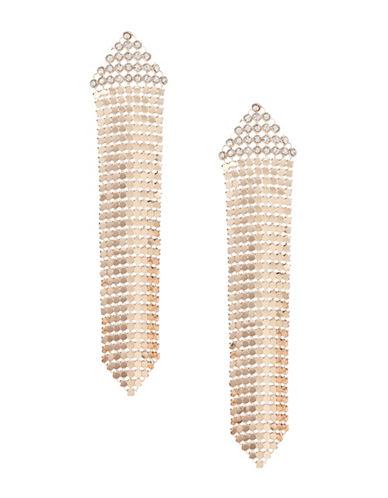 Design Lab Lord & Taylor Linear Disco Mesh Earrings-ROSE GOLD-One Size