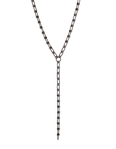 Design Lab Lord & Taylor Rhinestone Link Chain Necklace-RED-One Size