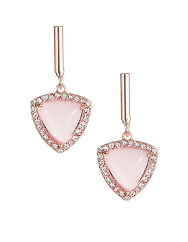 Design Lab Lord & Taylor Pavé Crystal Drop Earrings-PINK-One Size