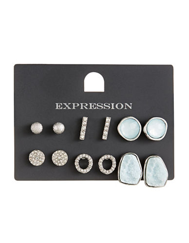Expression Six Pack Stone Earrings-ASSORTED-One Size