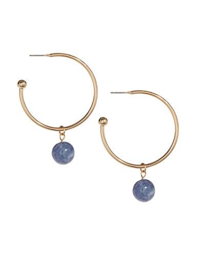 Expression Orbital Hoop Earrings-BLUE-One Size