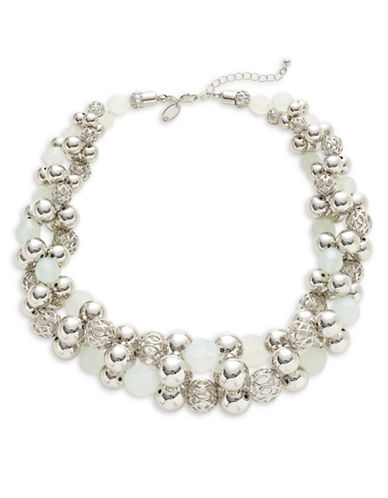Expression Multi-Sized Ball Collar Necklace-GREEN-One Size