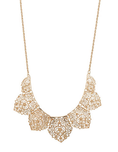 Expression Pointy Shape Filigree Necklace-GOLD-One Size
