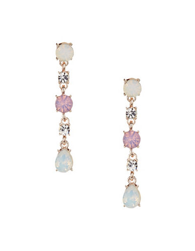 Expression Crystal Multi-Sized Drop Earrings-PASTEL-One Size