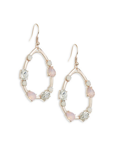 Expression Crystal Teardrop-Shaped Drop Earrings-PASTEL-One Size