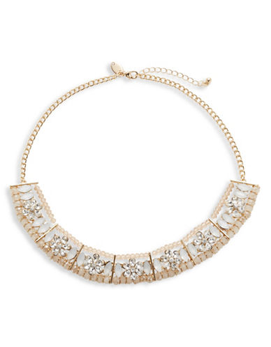 Expression Multi-Stone Collar Necklace-PINK-One Size