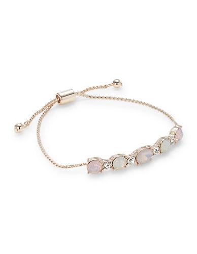 Expression Crystal Slider Bracelet-PINK-One Size