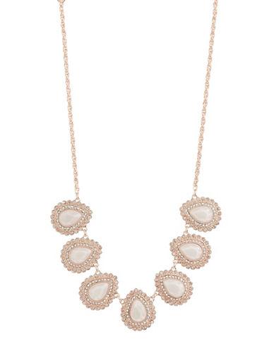 Expression Pavé Crystal Teardrop Shape Pendant Necklace-ROSE GOLD-One Size