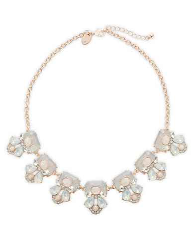 Expression Multi-Size Stone Necklace-PINK-One Size