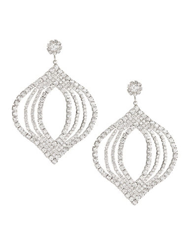 Expression Pavé Crystal Dangle and Drop Earrings-SILVER-One Size