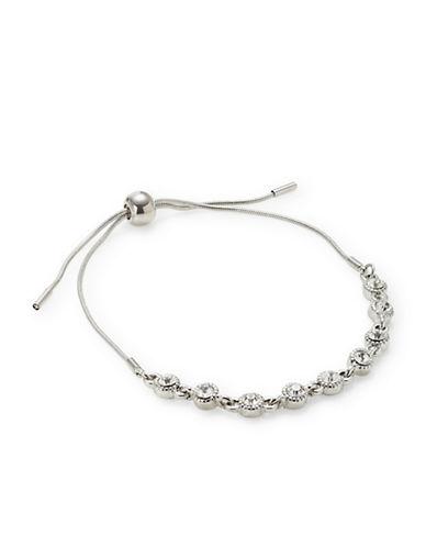 Expression Crystal Slider Bracelet-SILVER-One Size
