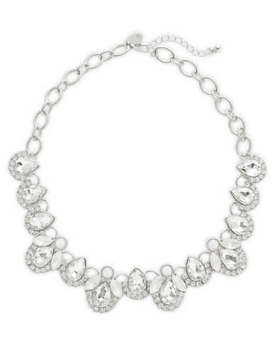 Expression Crystal Multi-Shape Statement Necklace-SILVER-One Size