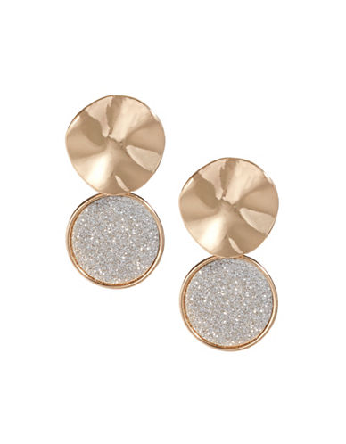 Expression Glitter Two Drop Earrings-ASSORTED-One Size