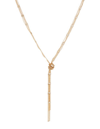 Expression Goldtone Knotted Necklace-GOLD-One Size