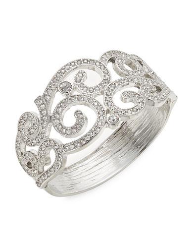 Expression Stone Hinge Bracelet-SILVER-One Size