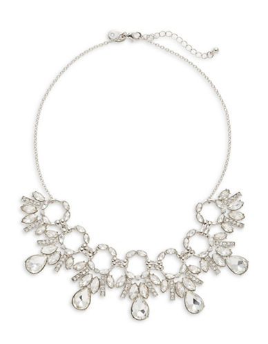 Expression Crystal Multi-Ring Necklace-SILVER-One Size