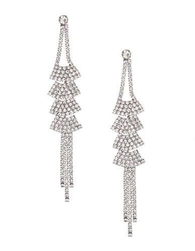 Expression Drop Cup Chain Earrings-SILVER-One Size