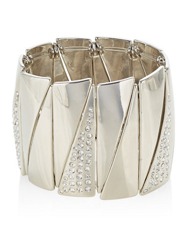 Expression Crystal Triangle-Shape Stretch Bracelet-SILVER-One Size