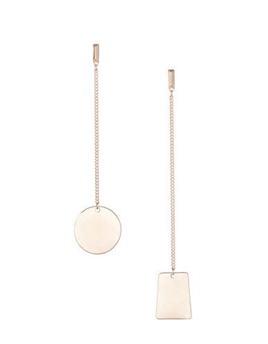 Design Lab Lord & Taylor Long Bar Circle Drop Earrings-ROSE GOLD-One Size