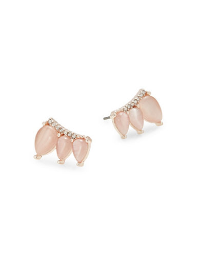Design Lab Lord & Taylor Three Navette Stone Stud Earrings-PASTEL-One Size