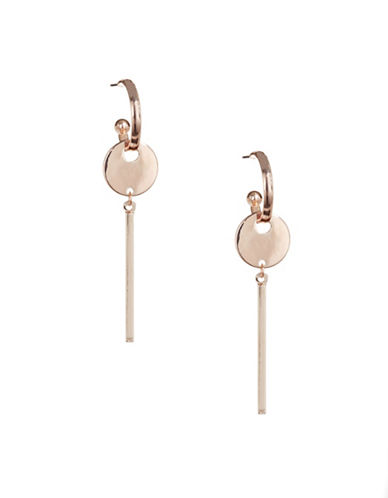 Design Lab Lord & Taylor Hoop and Bar Earrings-ROSE GOLD-One Size