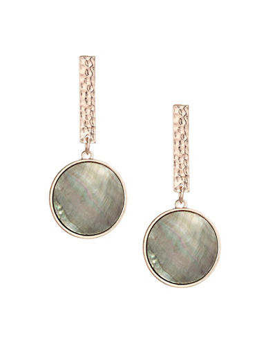 Design Lab Lord & Taylor Bar and Shell Disc Drop Earrings-MULTI-One Size