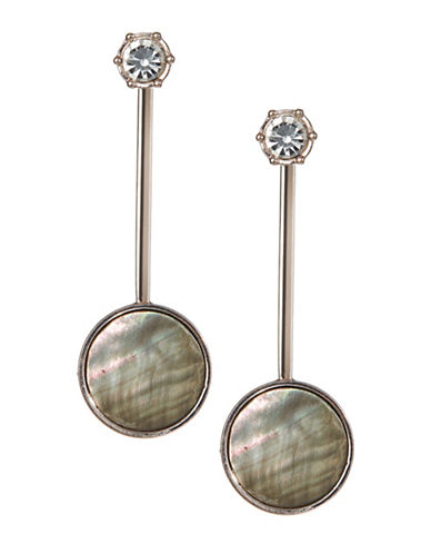 Design Lab Lord & Taylor Pave Crystal Bar and Round Drop Earrings-ASSORTED-One Size