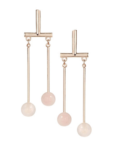 Design Lab Lord & Taylor Drop Stone and Bar Earrings-PASTEL-One Size