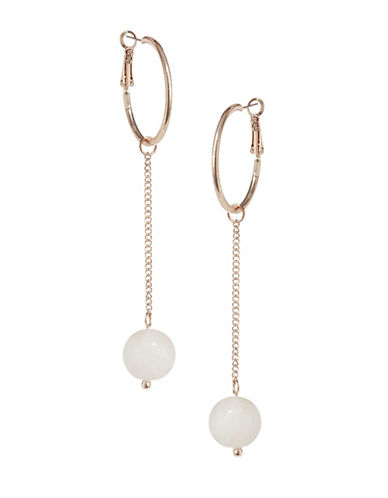 Design Lab Lord & Taylor Hoop and Orb Earrings-PASTEL-One Size