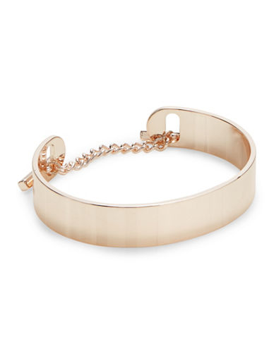 Design Lab Lord & Taylor Chain Cuff Bracelet-ROSE GOLD-One Size