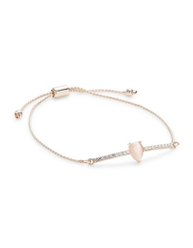 Design Lab Lord & Taylor Pave Crystal Bar Bracelet-PASTEL-One Size