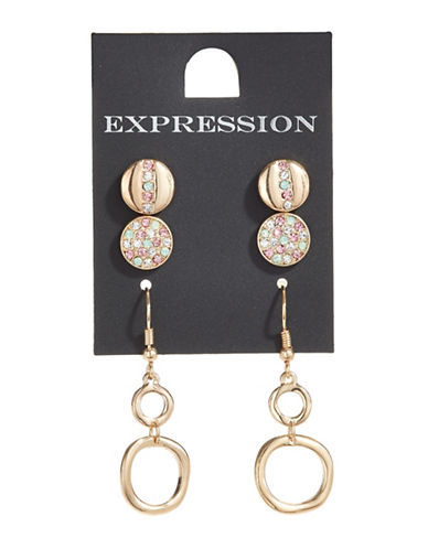 Expression Three-Pack O Ring Earrings-ASSORTED-One Size