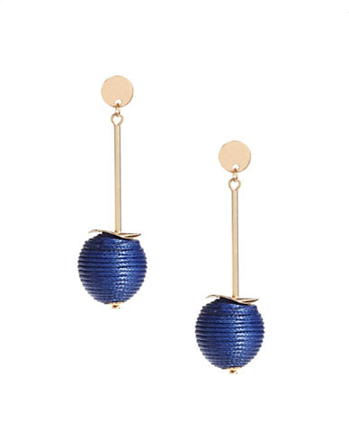 Expression Thread Orb Drop Earrings-BLUE-One Size