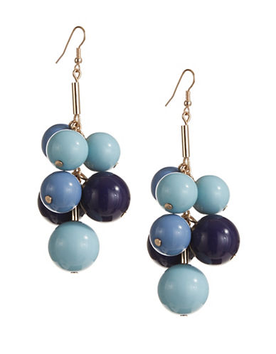 Expression Multi-Size Ball on Post Drop Earrings-BLUE-One Size