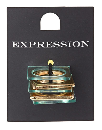 Expression Five-Piece Square Ring Set-GREEN-7