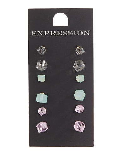 Expression Four-Pack Assorted Stud Earrings-ASSORTED-One Size