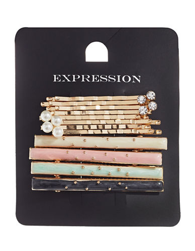 Expression Twelve-Piece Embellished Bobby Pin Pack-ASSORTED-One Size