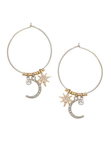 Jordyn G Celestial Charm Hoop Earrings-TWO TONE-One Size