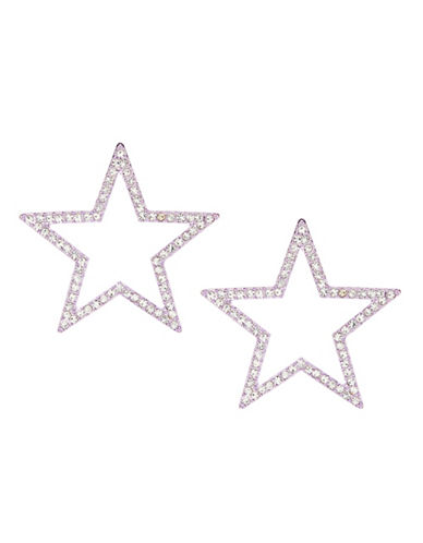 Jordyn G Star Studded Post Back Earrings-PINK-One Size