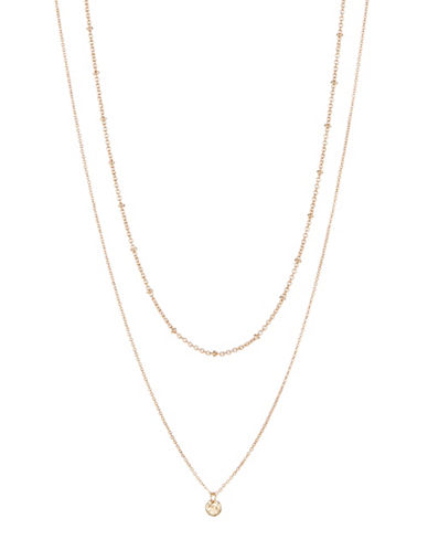 Jordyn G Two-Row 18K Gold Delicate Necklace-GOLD-One Size