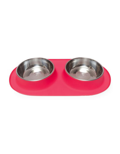 Messy Mutts Extra Large Silicone Double Feeder-RED-XLarge